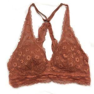 Victoria's Secret Ginger Rust Lace Bralette